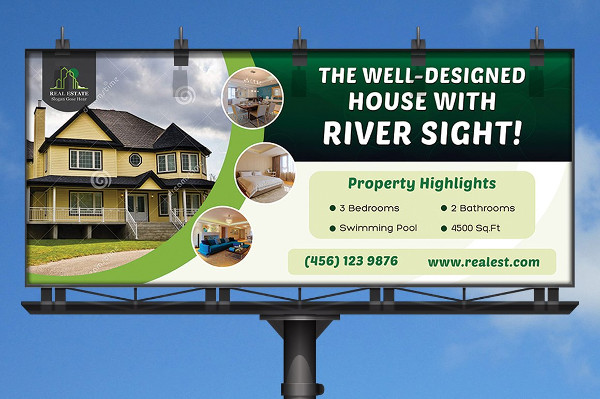 Real Estate Agent Billboard Template