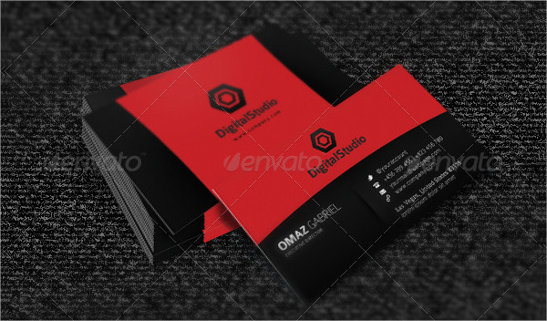 Red Creative Minimalist Business Card