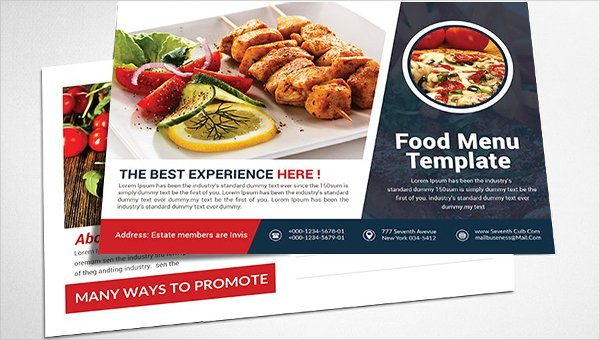 Restaurant Postcard Templates