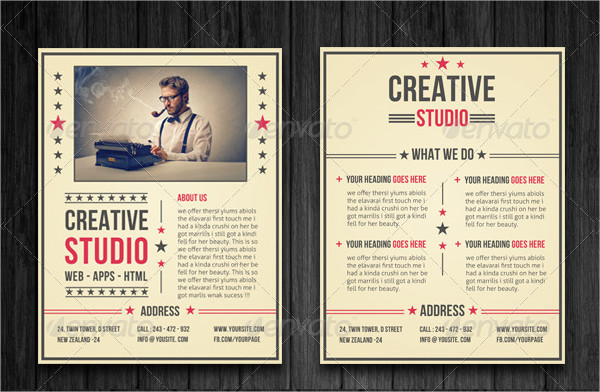 Retro Style Business Flyer Template