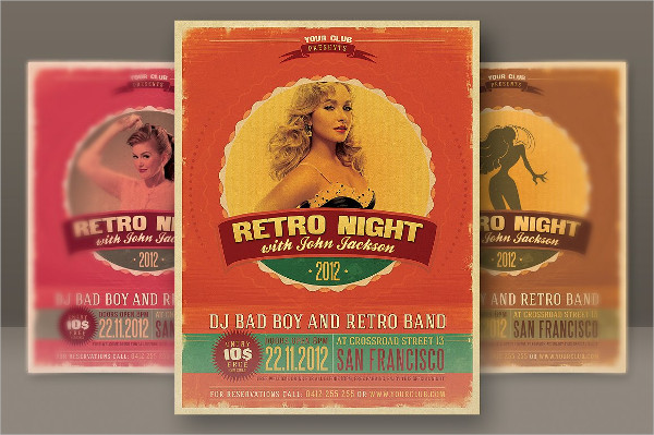 Retro Style Concert Party Flyer