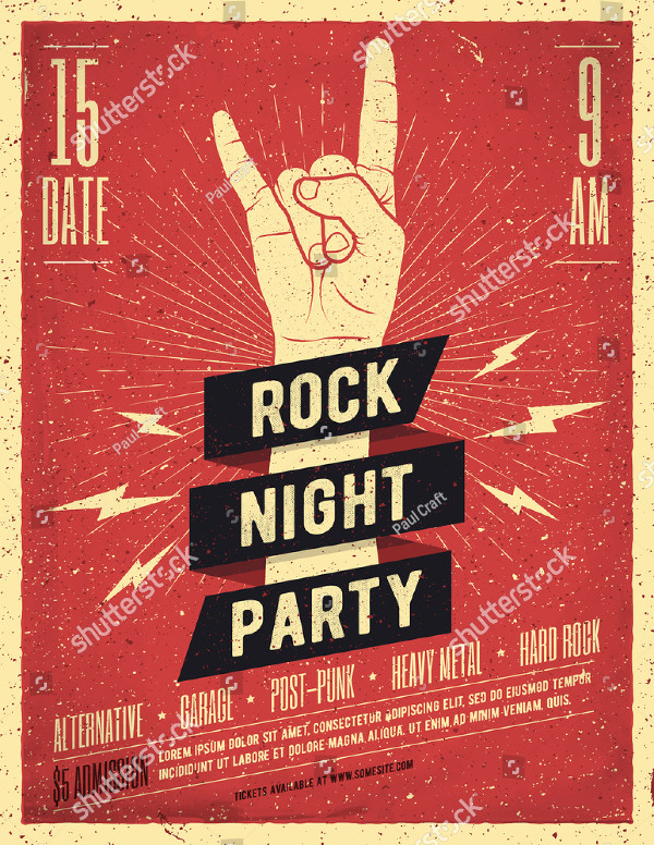 Rock Night Party Poster