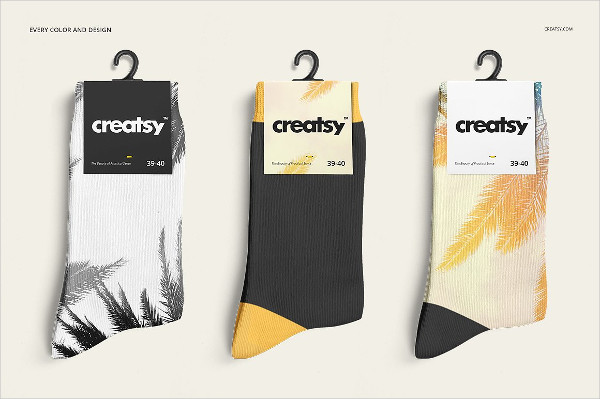 Running Socks Mock-Ups Set