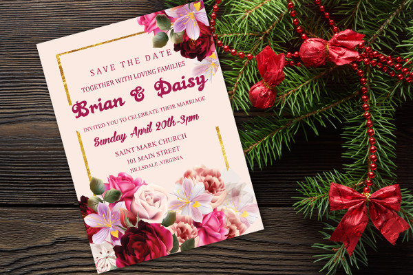 Sample Invitations For Marriage