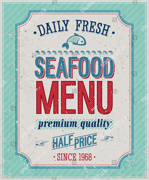 SeaFood Poster Vector Illustration