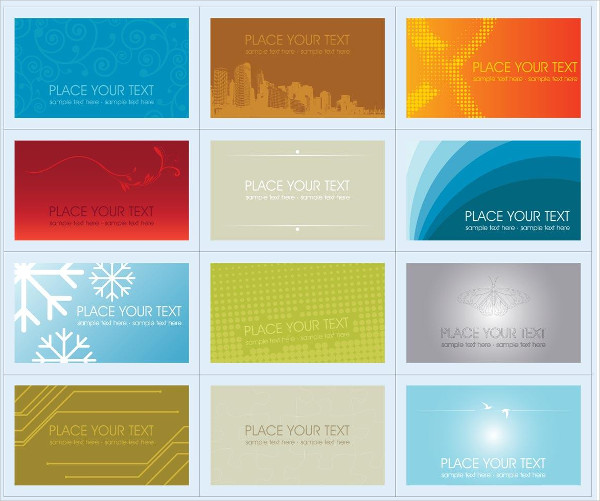 Set of Plastic Business Cards Designs Free