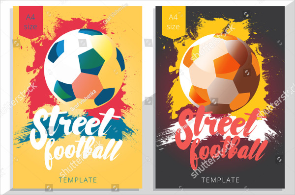 Set of Street Football posters Design in A4 Size