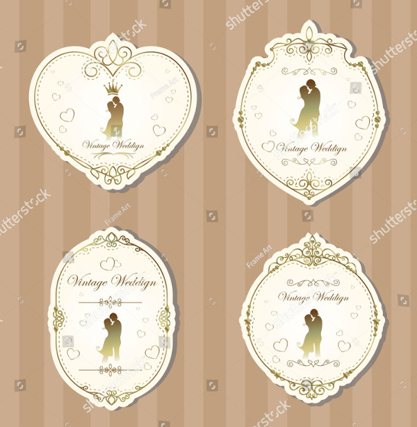 Set of Wedding Label Templates
