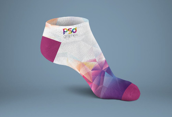 Short Sock Mockup Free Download