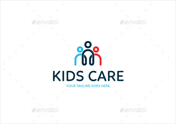 Simple Kids Care Logo Design