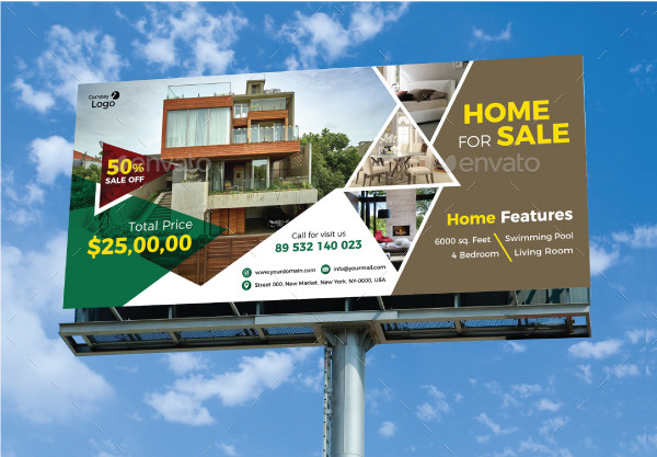 Simple Real Estate Billboard Design