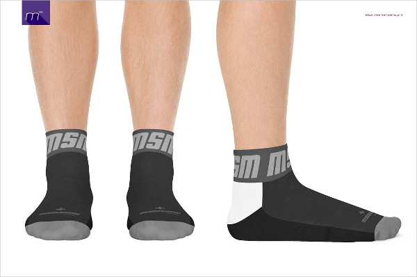 Socks on Model Mockup