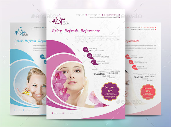 Spa Promotion Flyer Template