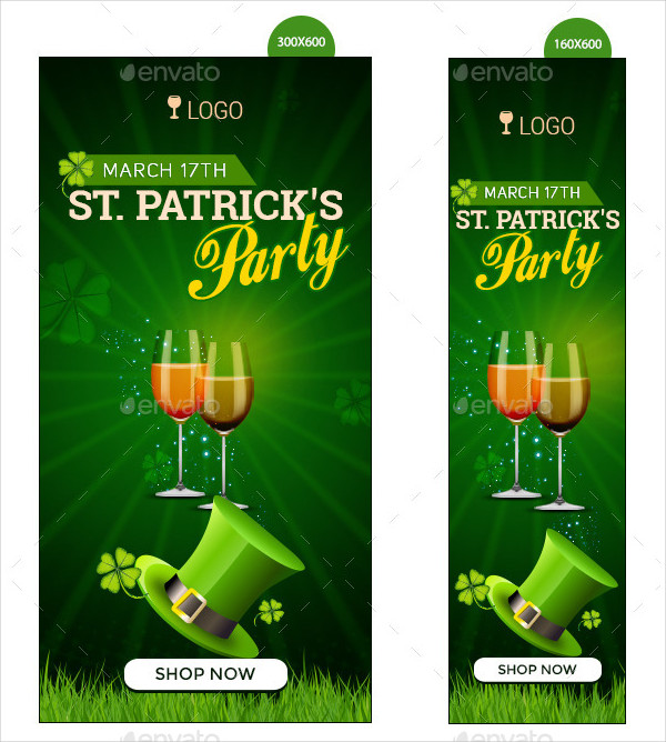 St Patricks Party Banners