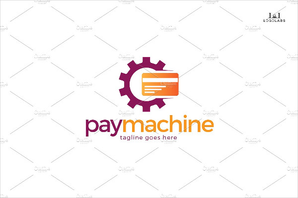 Stylish Pay Machine Logo