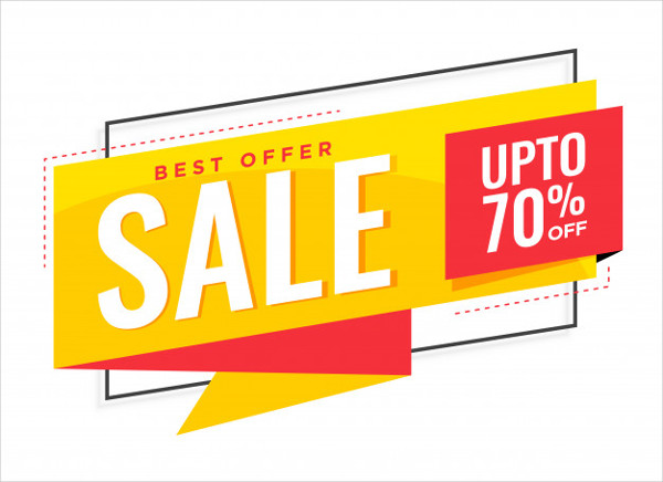 Stylish Yellow Sale Banner Template Free
