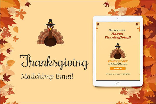 Thanksgiving Email Invitation Template