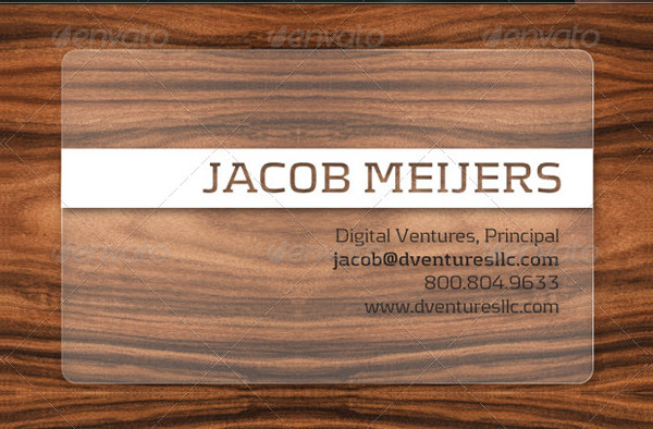 Printable Translucent Plastic Business Cards