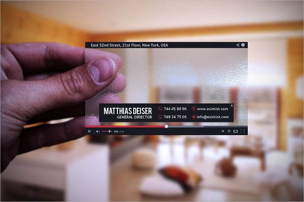 Transparent YouTube Business Card Template