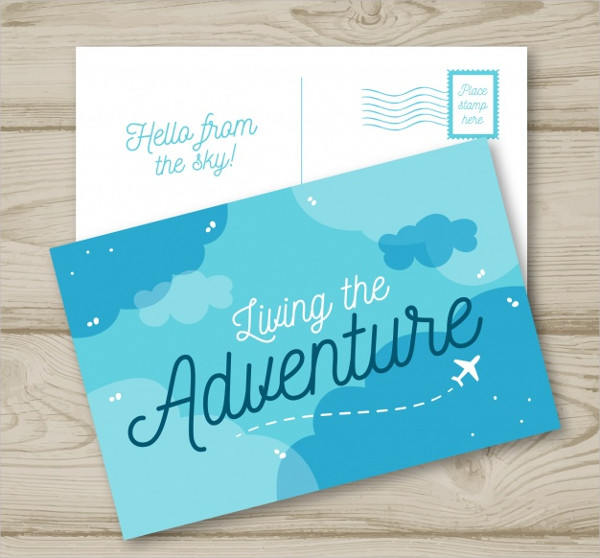 Free Travel Postcard Template In Hand Drawn Style