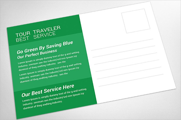 Travel Service Postcard Template