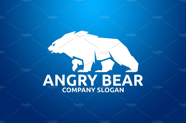 Unique Angry Bear Logo