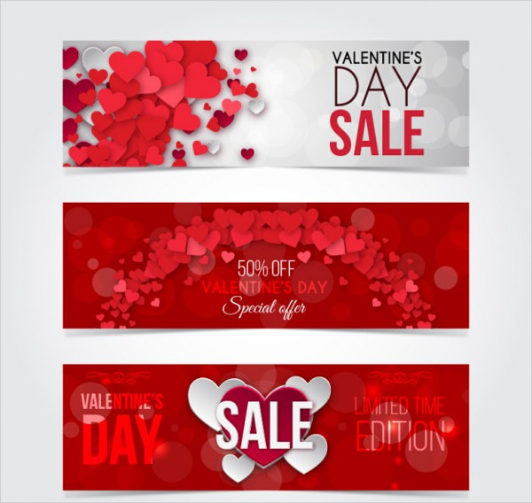 Valentine Day Discount Banners Pack Free