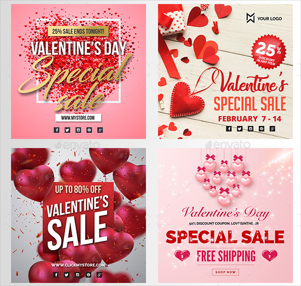 Awesome Valentine Day Social Banners