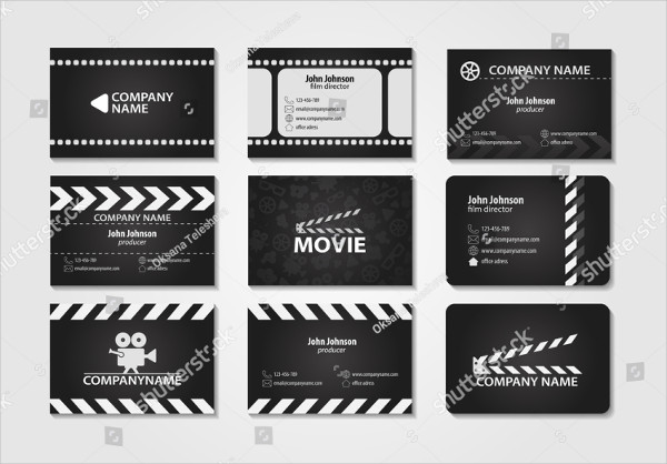 Vector Set of Creative Film Business Cards