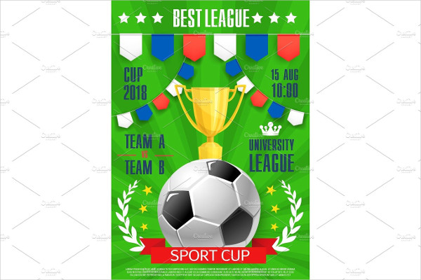 Vector Football Poster College League Cup