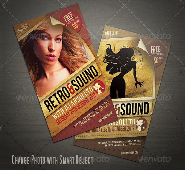 Best Retro Style Flyer Template