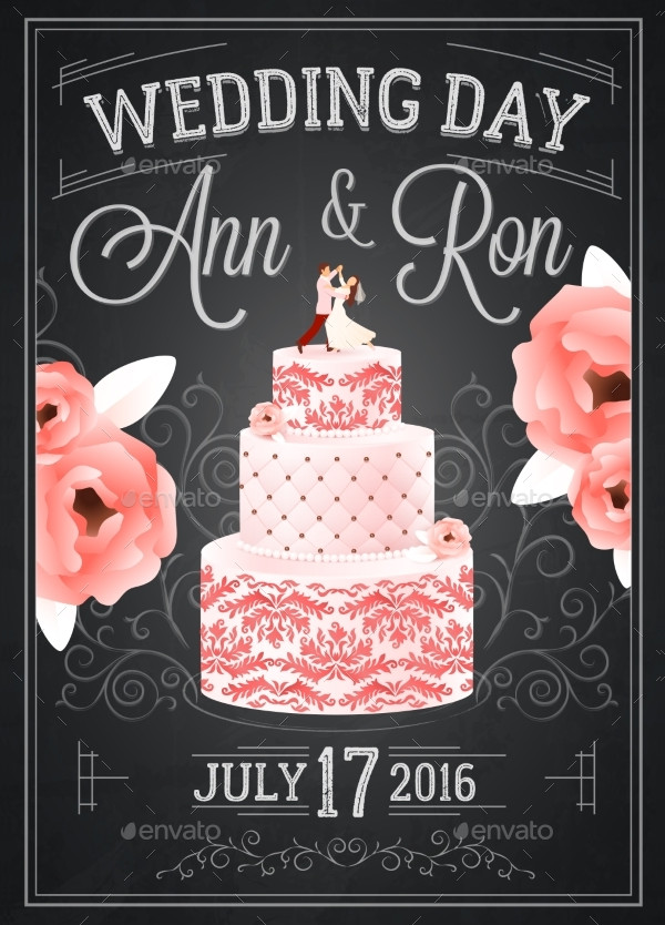 Wedding Chalkboard Poster Template