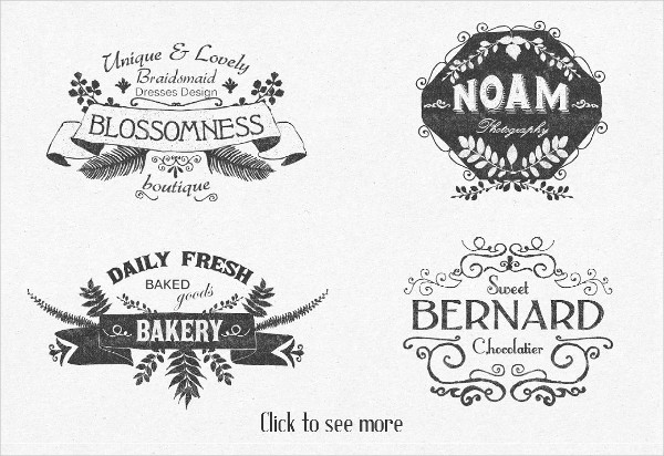 Wedding Floral Label Templates and Design