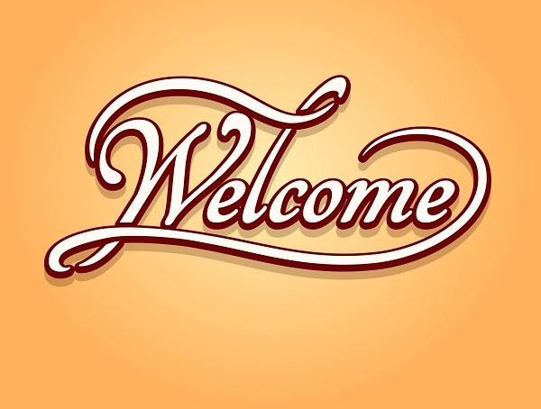 Welcome Typhography Banner Design