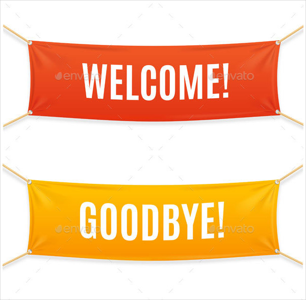 Welcome and Goodbye Banner Designs
