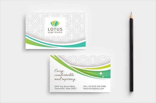 Yoga Class Business Card Template