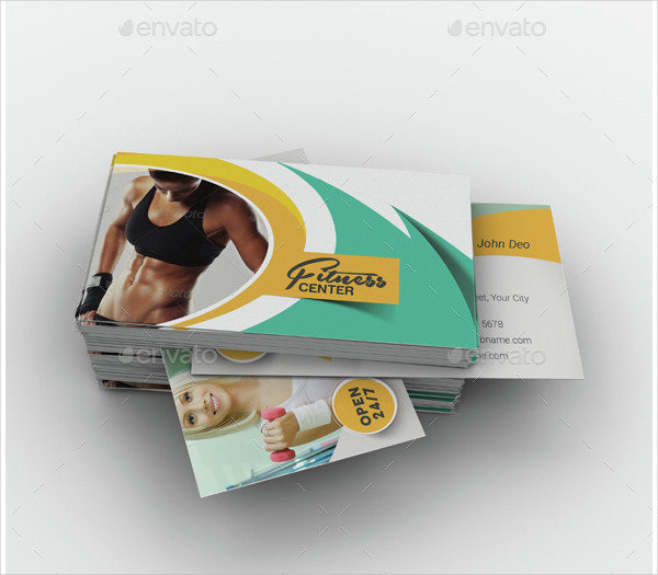 Yoga Health Business Card Template