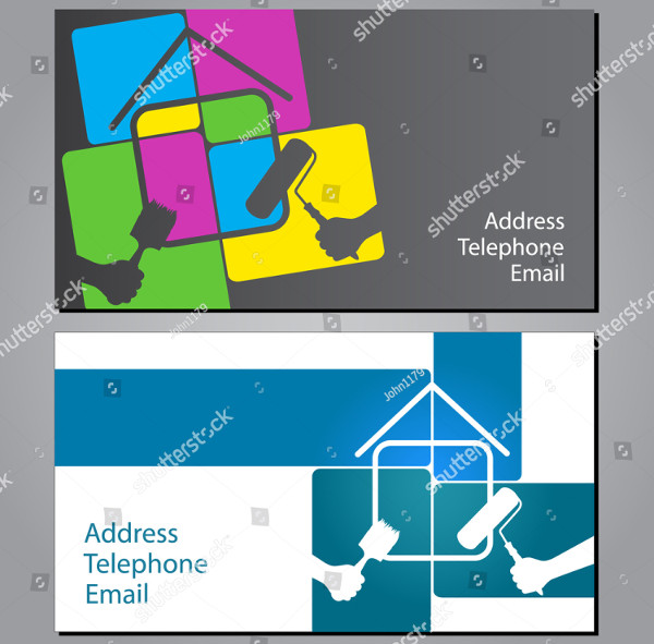 House Painting Business Cards Vector