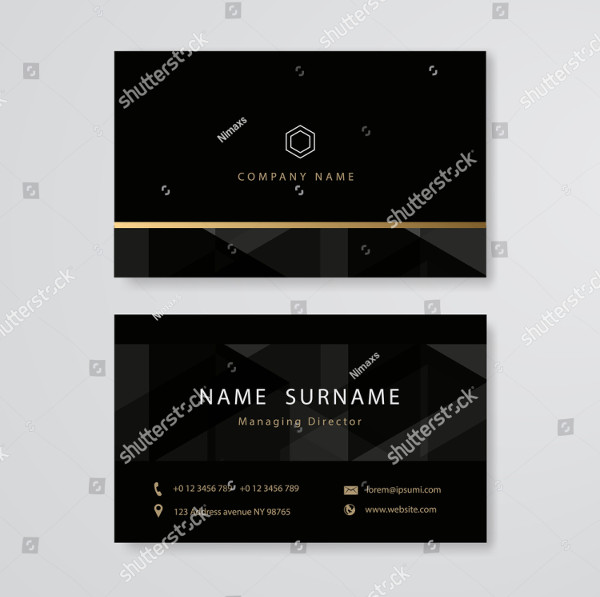 Luxury Design Business Card Flat Template
