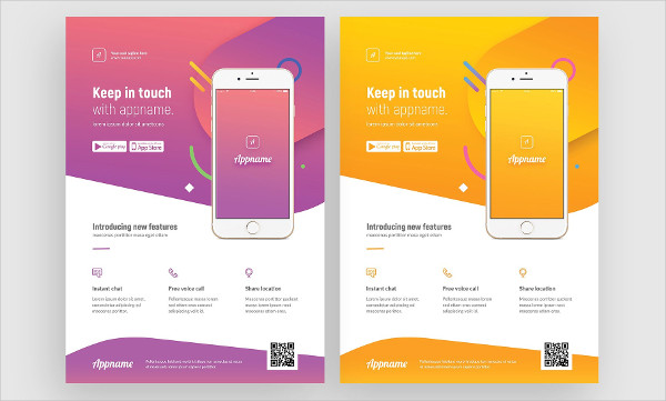 Advertisement Mobile App Flyer Template