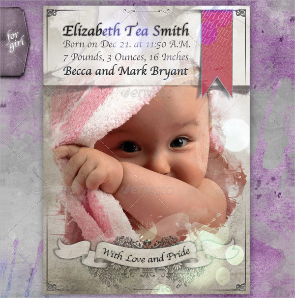 Baby Announcement Greeting Card
