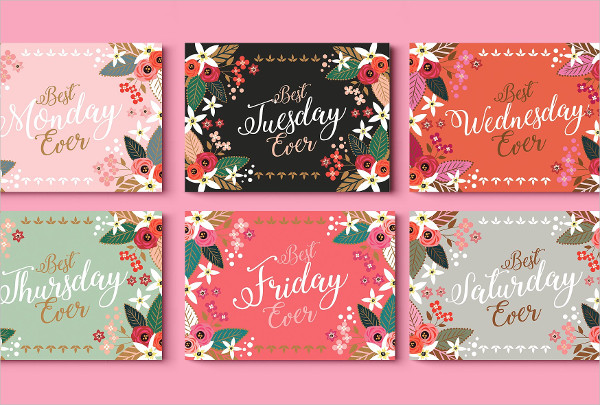 Best Week Ever Greeting Cards Template