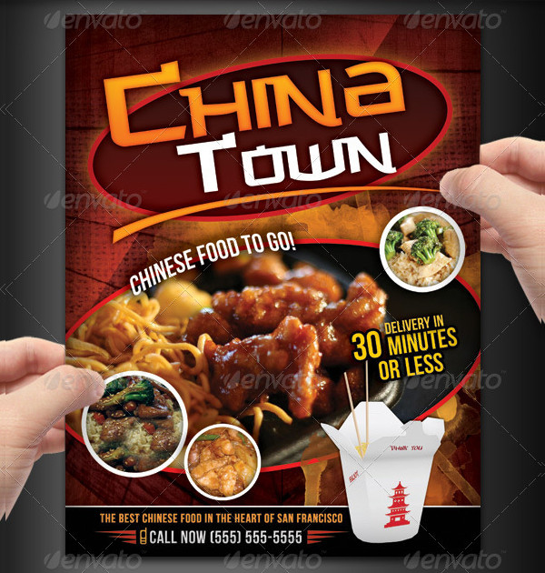 Beautiful Chinese Food Menu Flyer Design