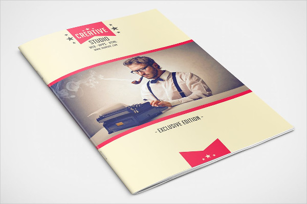 Clean Retro Advertising Brochure Template