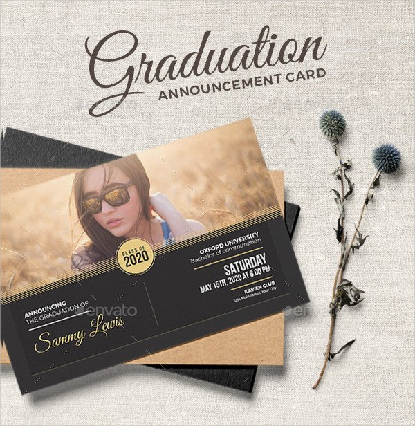 Cool College Announcement Card Template