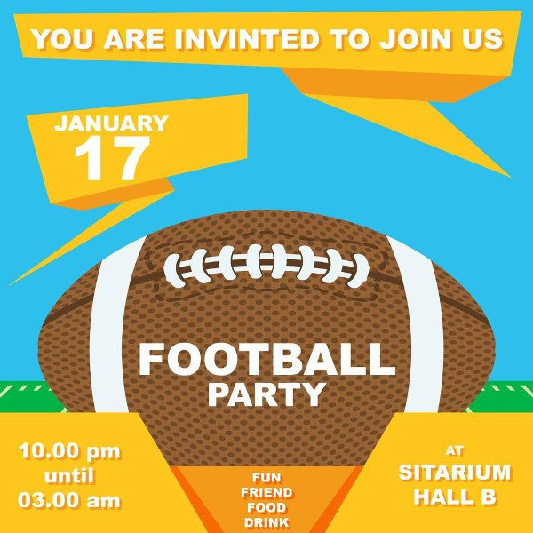 College Football Party Invitation Free Download