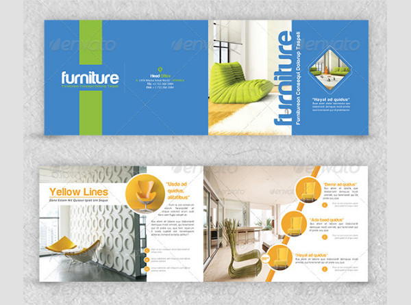 Colorful Furniture Brochure Templates
