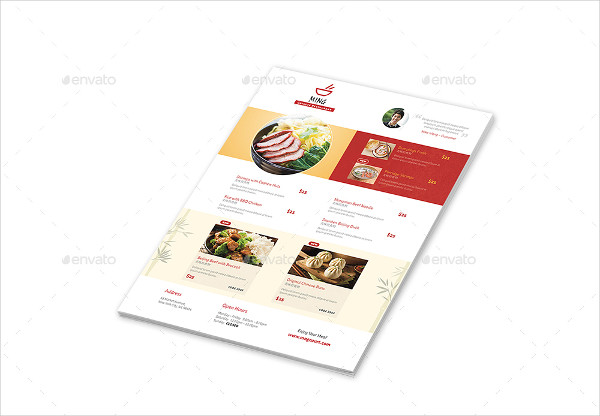 Cool Chinese Menu Template