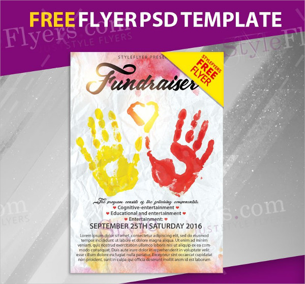 Donation Event Free PSD Flyer Template