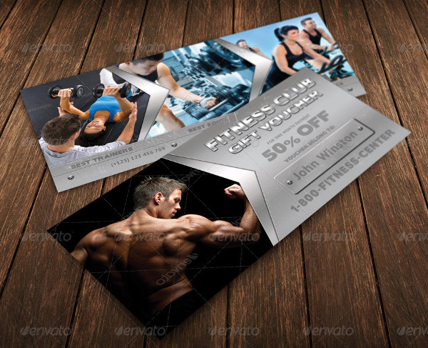 Fitness Club Voucher Template